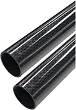 ARRIS 23mm x 25mm x 500mm 3K Roll Wrapped 100% Pure Carbon Fiber Tube Glossy Surface (2PCS)