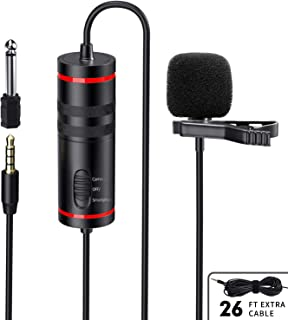 Professional Lavalier Microphone, Ploture Omnidirectional Mini Lapel Microphone Suitable for Recording Youtube, PC, Podcast, Asmr, DSLR, Android …