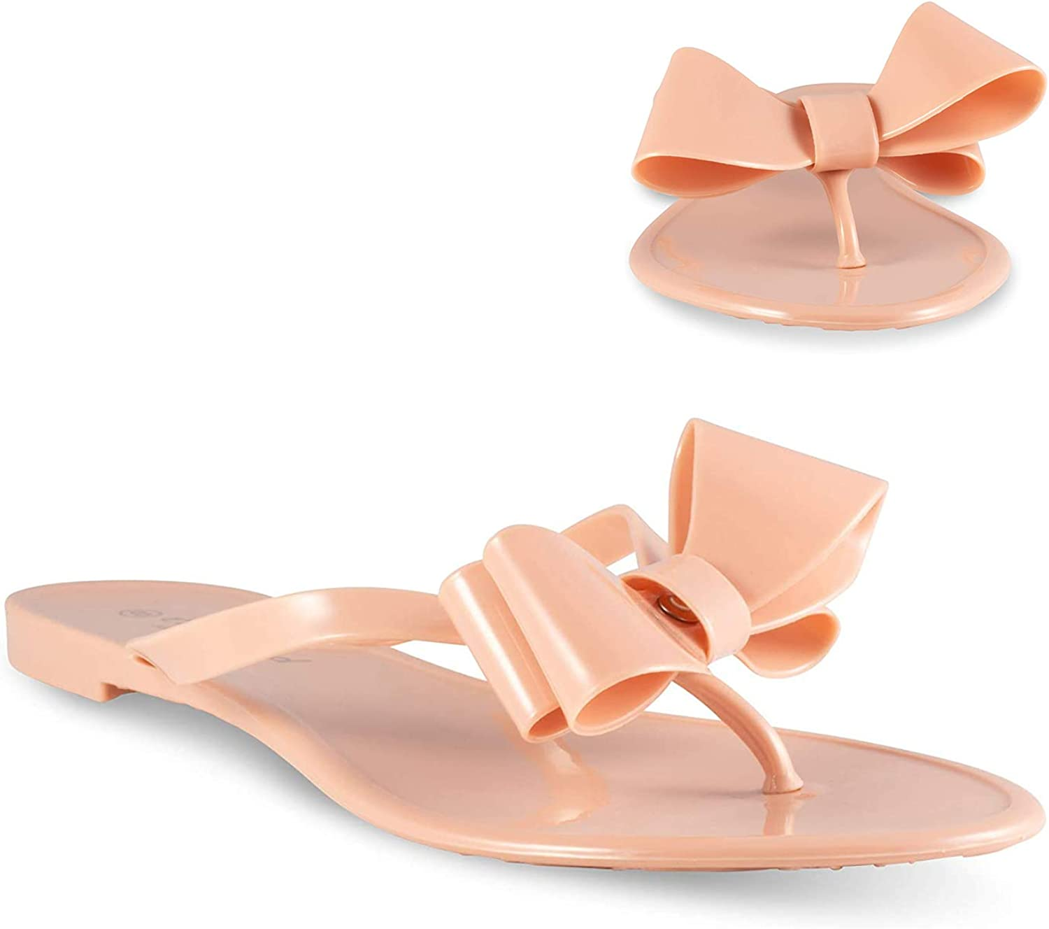 Twisted Justina Womens Sandals with Bow   Ladies Flat Heel Flip
