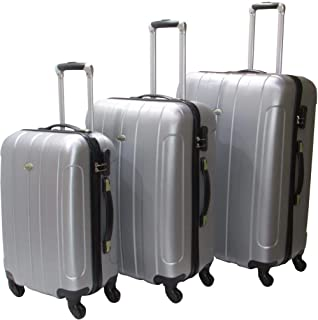 Highflyer Gray Lineage Trolley Luggage Set, 3 Pieces