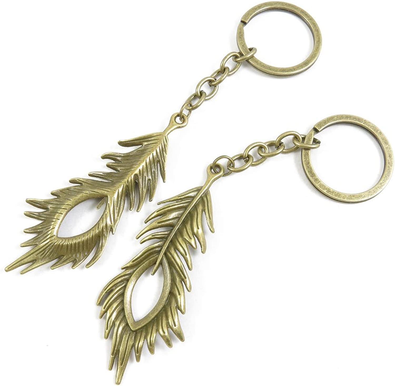 120 Pieces Fashion Jewelry Keyring Keychain Door Car Key Tag Ring Chain Supplier Supply Wholesale Bulk Lots H6OM5 Peacock Feathers
