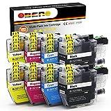 OBENO - 2 Sets - LC3211 LC3213 Paquete de 8 Cartuchos de Tinta Compatibles para Brother LC3211 MFC-J890DW, MFC-J895DW, DCP-J772DW, DCP-J774DW, DCP-J572DW (2 Negro, 2 Cian, 2 Magenta, 2 Amarillo)