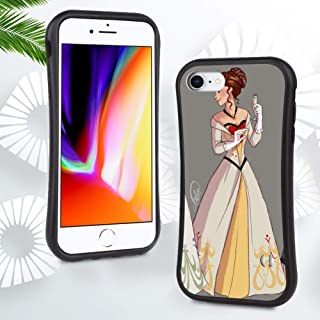 DISNEY COLLECTION Matte Phone Case for iPhone 6 Plus, iPhone 6S Plus Cartoon Frozen Simple Background Anime Girl Anime Dress Cute Slim Frosted Cartoon Shockproof Protective Cover