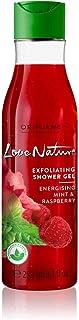ORIFLAME LOVE NATURE Exfoliating Shower Gel Energising Mint & Raspberry 250 ML