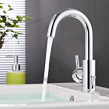 ubeegol Messing chroom kraan badkamer armatuur 360 ° draaibaar wastafelarmatuur wastafelarmatuur badkraan wastafel mengkraan