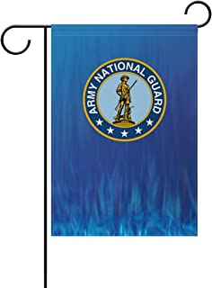 poeticcity US Army National Guard Home Decorative Outdoor Two-Sided Garden Flag 12