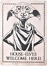 Genuine Harry Potter House Elves Welcome Here Dobby A5 Steel Sign Tin Wall Door Plaque