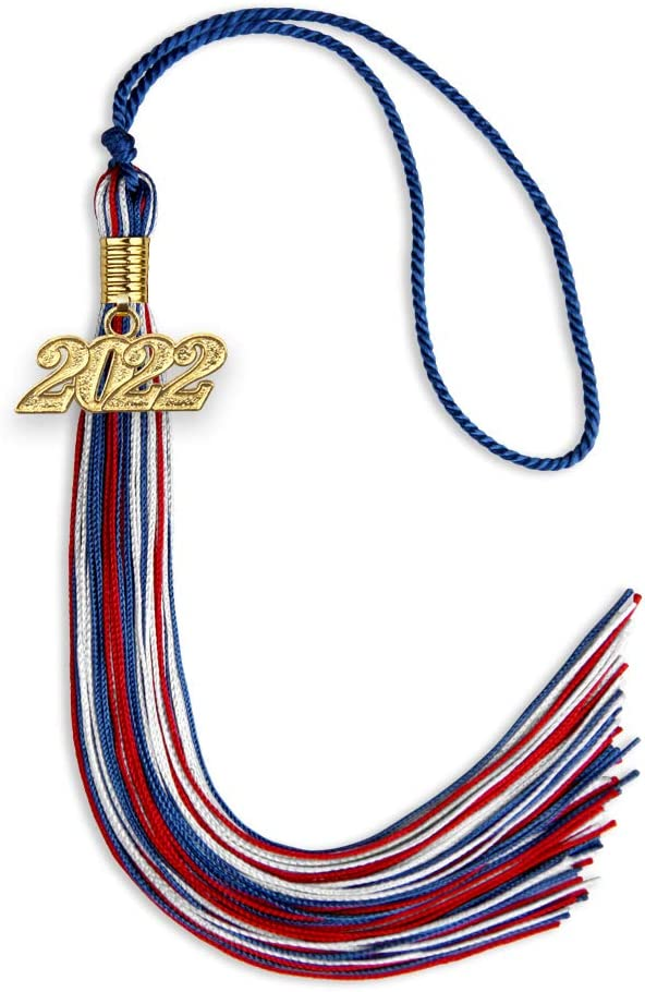 Endea Graduation Mixed All stores are sold Triple Color Max 71% OFF with Drop Tassel Gold Date