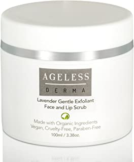 Ageless Derma Sugar Lip and Face Scrub by Dr. Mostamand. A Lip and Facial exfoliator for Softer luscious Lips