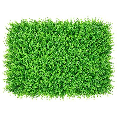 WanuigH-Home Wurzelnackte Grün Hedging 12 Stücke künstliche Boxwood Hedge Mat Panels Topiary Heckenpflanze Privacy Screen UV-Schutz Baum Pflanzen (Farbe : Grün, Größe : 60x40cm)