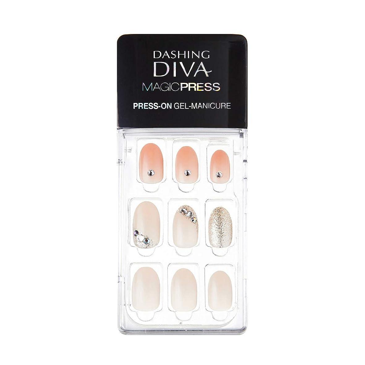 見せますナイトスポット荷物ダッシングディバ マジックプレス DASHING DIVA MagicPress MJP_035-DURY+ オリジナルジェル ネイルチップPurity Jewel