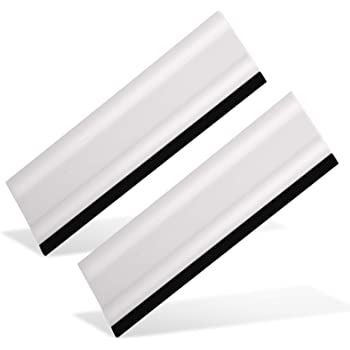 """EHDIS 6"""" Block Squeegee Car Rubber Squeegee Work with Film, Stickers, Decals and Vinyl [2 pcs]"""