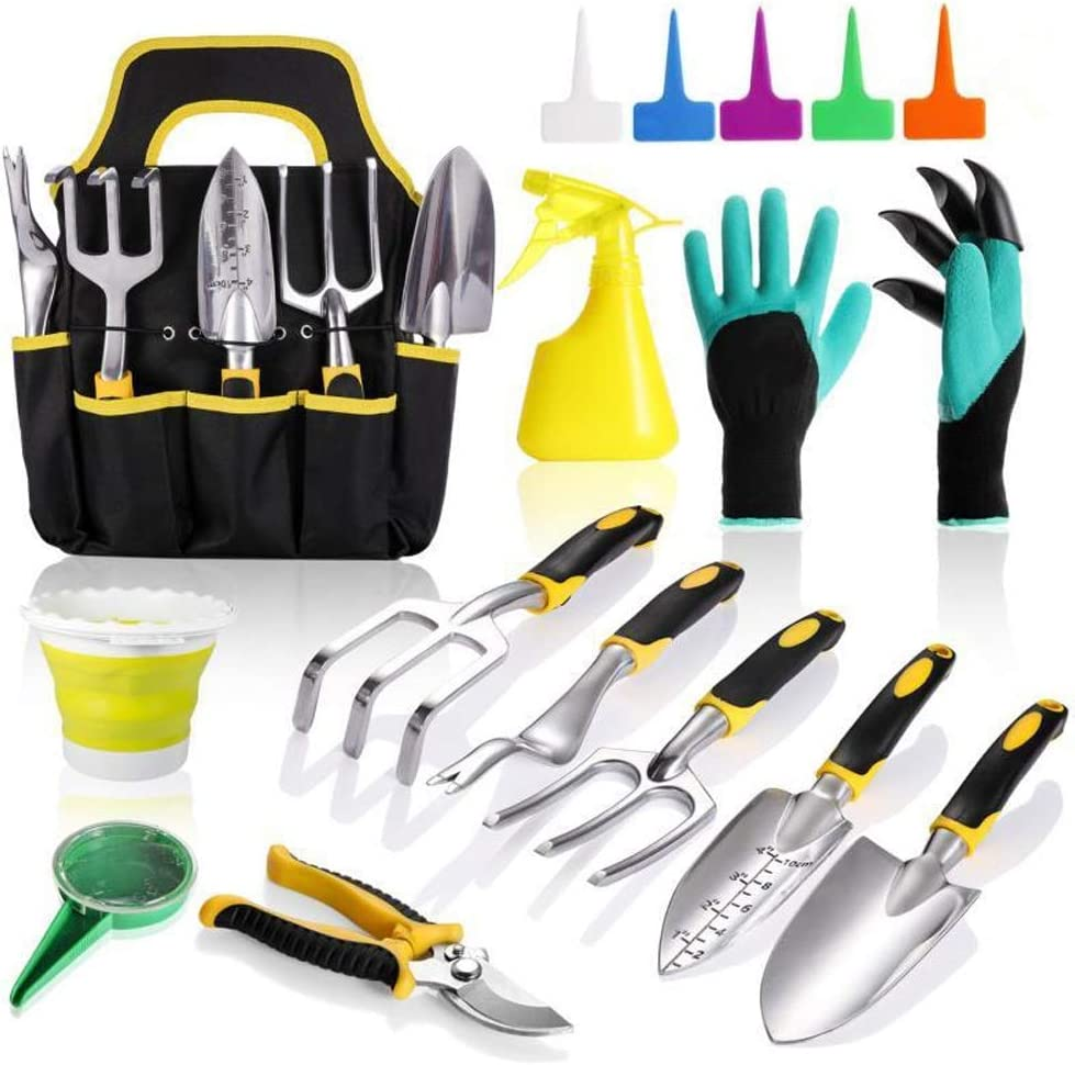 AUTUY Raleigh Mall Garden Tools for Max 68% OFF Gardening 31 Aluminum Kit with Tool Piece