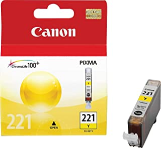 Canon CLI-221Y, 2949B001 (CLI221Y) Yellow OEM Genuine Inkjet/Ink Cartridge - Retail