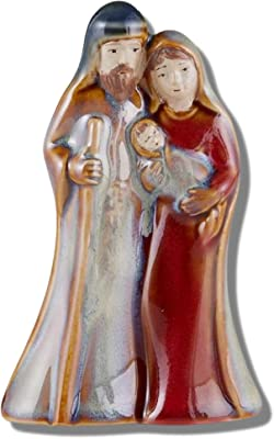 Porcelain Baby Jesus Nativity Scene Figurine Sets for Christmas Indoor, Holy Family Statue Standing Tabletop Holiday Decoration, 4 Inches