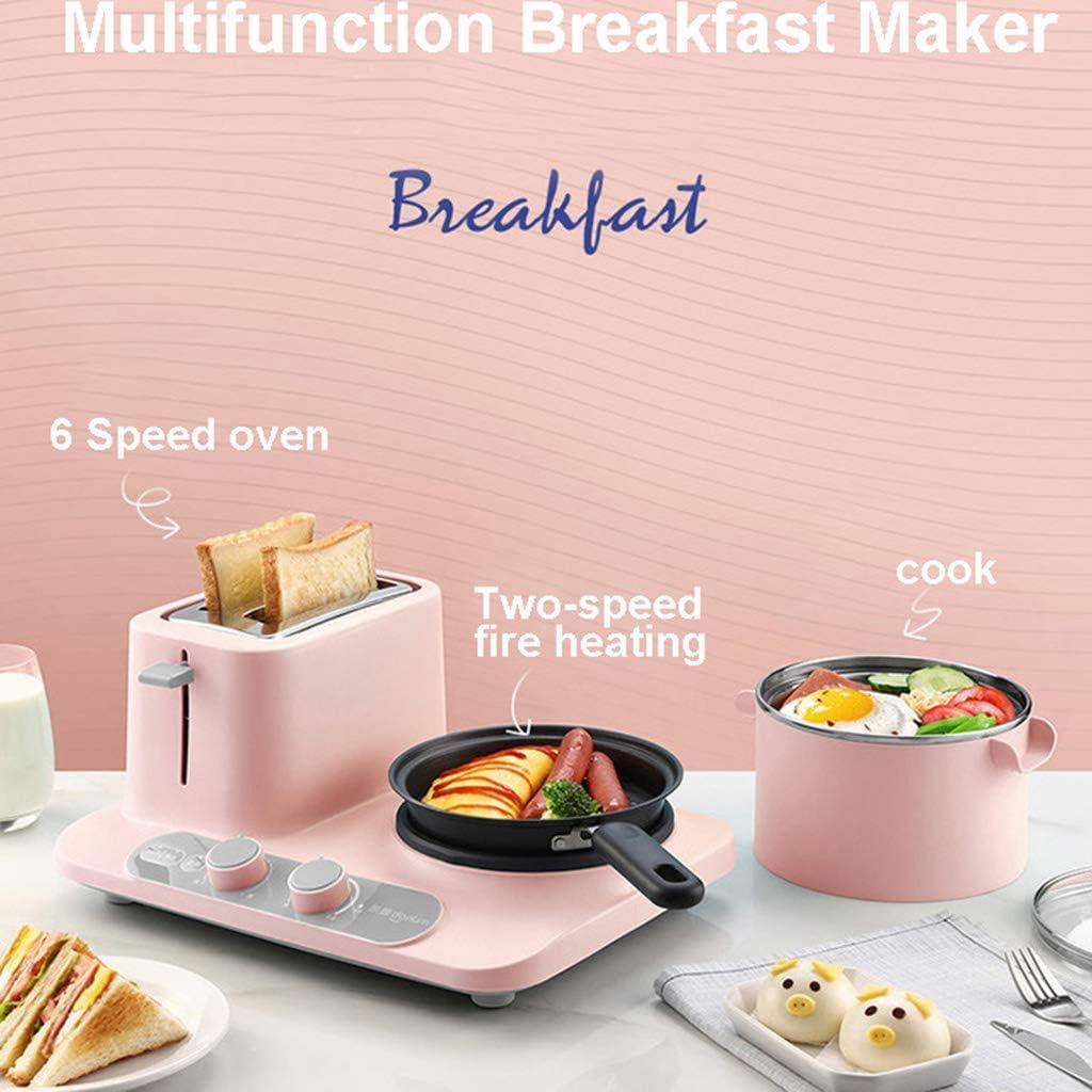 WENSISTAR broodrooster, mini-pan met stoom brede sleuf 5 functies roestvrij staal multifunctioneel ontbijtmachine yellow