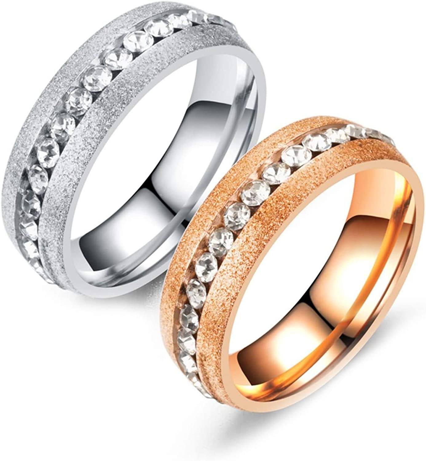 Daesar 2PCS Stainless Steel Rings His Ring Ranking TOP6 6MM and Brand new Hers Ro