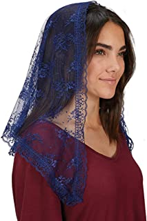 Traditional Navy Blue Chapel Length Veil, 41 Inch, Pack of 2