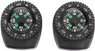 Filfeel Horloge Kompas 2 Stks Draagbare Pols Kompas Afneembare Outdoor Navigatie Apparaat voor Survival Camping Wandelen V...