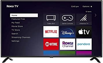 Element 50″ 4K 2160p Roku Smart LED TV with HDR – E4AA50R (Renewed)