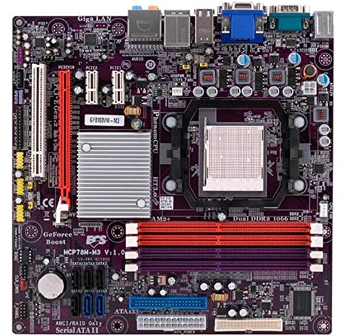 Marke: Sonstiges ECS MCP78M-M3 Rev.1.0 GeForce 8 Mainboard Micro ATX Sockel AM2+ #300686
