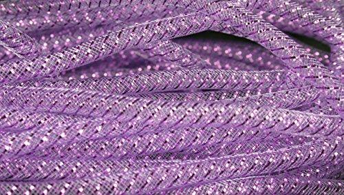 4MM Deco Mesh Tubing Flexible Tube 60 Yards Bulk Buy Party & Wedding Decor (Lavender)