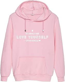 Kpop BTS Hoodie Love Yourself Speak Yourself Tour Sweatshirts Pullover Hoodies