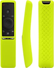 [2-Pack] Remote Case for Samsung BN59-01241A BN59-01242A BN59-01292A, AKWOX [Anti Slip] Shock Proof Washable Remote Protector Cover for Samsung UHD TV Remote Controller with Lanyard (Green)