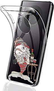 Oihxse Mode Case Compatible pour Nokia 2.2 Coque Transparent Silicone Gel TPU Bumper Animal Motif Dessin Cover Ultra Mince...