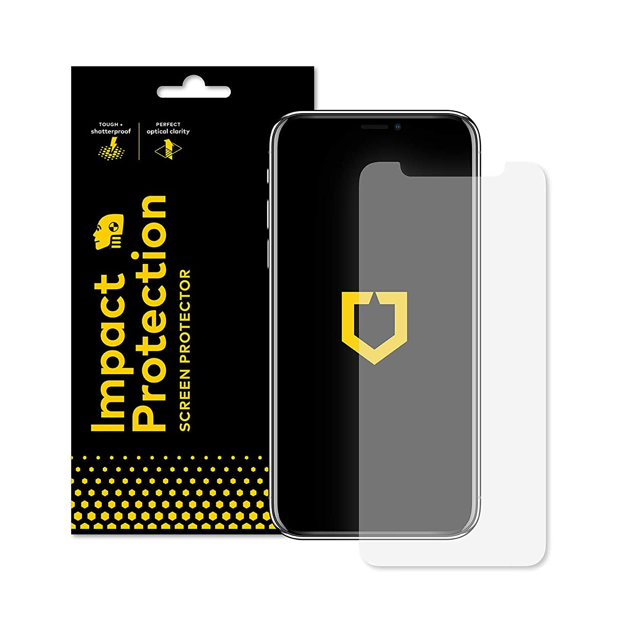 RhinoShield Screen Protector for iPhone XR [Impact Protection] | High Strength Impact Damping/Dispersion Technology - Clear and Scratch/Fingerprint Resistant Screen Protection