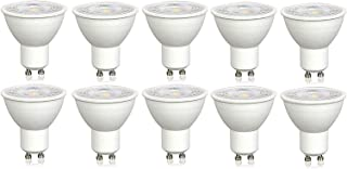 V-TAC LED de intensidad regulable GU10 Spotlight bombillas - paquete de 10 - blanco frío 6000 K - 7 W de alta potencia LED - 38 grado Beam/550 Lumens