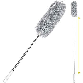ホコリ掃除 Sawake 伸縮タイプ ほこり取りブラシ ハンディモップ 曲げれる 長さ調整 年末大掃除 隙間掃除 250cmまで伸縮 手洗い エアコン掃除