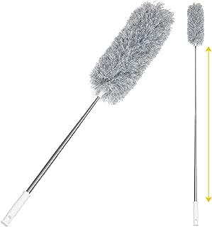 ホコリ掃除 Sawake 伸縮タイプ ほこり取りブラシ ハンディモップ 曲げれる 長さ調整 年末大掃除 隙間掃除 250cmまで伸縮 手洗い