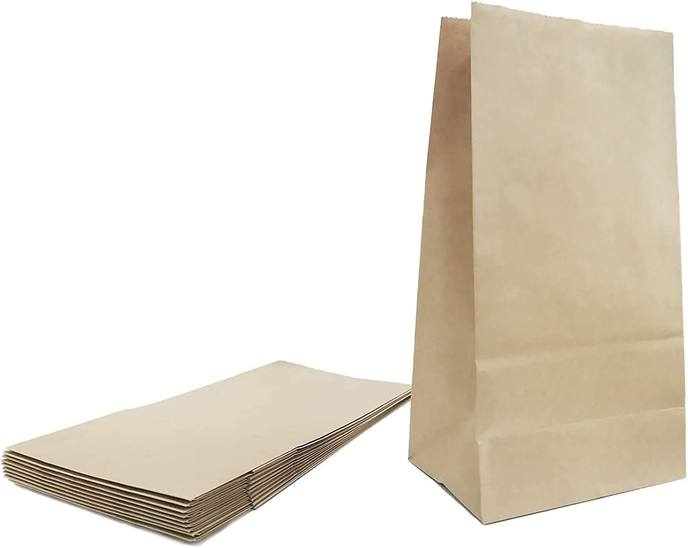 10Pcs Brown Paper Lunch Bags ,4 LB Capacity Paper Lunch Bags,Use for Baking Shops,Coffee Shops,Milk Tea Shops,Gift Shops