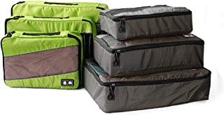 Packing Cubes System for Travel,6 Set Suitcase Organizer Premium Durable Travel Accessories(Green/Gray)