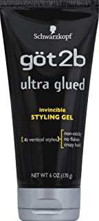 Got2b Ultra Glued Invincible Styling Hair Gel, 6 Ounce