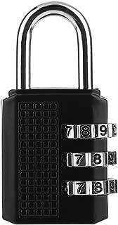 MachinYesell Mini Serrure Anti-vol en Alliage de Zinc de s/écurit/é 3 Combinaison multifonctionnelle Code de Verrouillage Valise de Voyage Bagages penderie Cadenas Noir et Argent