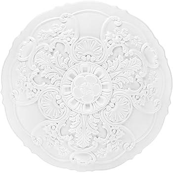 Rosace 156041 Profhome /Élement d/écorative /Élement pour plafond style N/éo-Empire blanc 78,5 x 54,4 cm