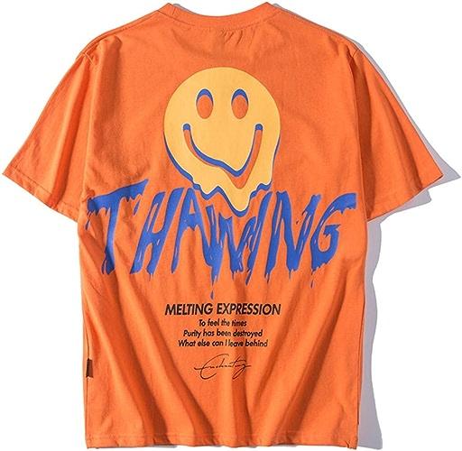 MMADD T-Shirt à capucheT-Shirt Loose à Manches Courtes, Ajouter de l'engrais pour AugHommester Les Ahommets Manches Courtes T-Shirt Homme Demi Manche,Orange,XXXXL