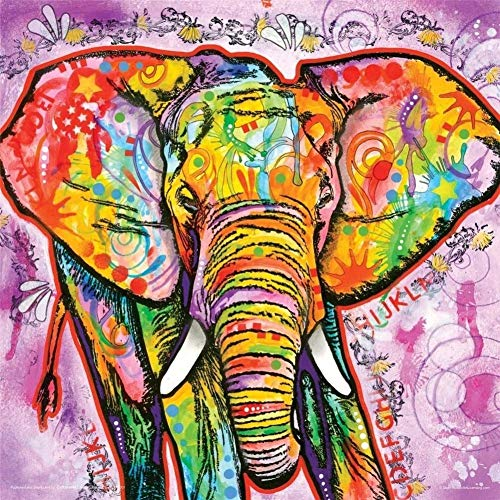 neivy Elephant Animal 5D Adult Children Gift Unfinished Diamond Painting Cross Stitch Kit Art 3D for Bedroom Office Decoration (Full Square 40x40cm)