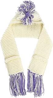Wiwsi Cosplay Unicorn Crochet Winter Hat Scarf Pocket Hooded Knitting Beanie