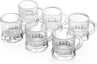Set of 6 – 1 Ounce Mini Beer Mug Whiskey Shot Glass