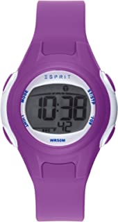 Esprit Unisex-Child Digital Quartz Watch with PU Strap ES906474001
