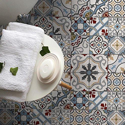 wall art 15 Piezas 20x20 cm - PP00029 Adhesivo de decoración de PVC para Suelos con Material transitable. - Stickers Design - Santa Cruz