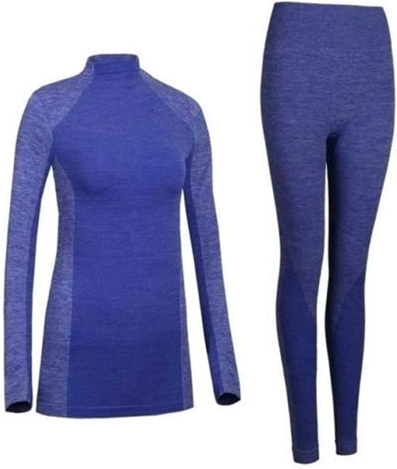DZHT Winter Thermal Underwear Women Quick Dry Stretch Warm Long Female Casual Thermal Underwear Clothing (Color Show 0, Size : Medium)