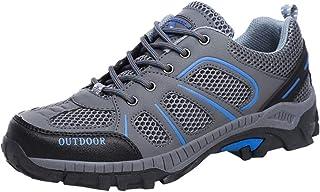 Mujer Adelgazar Zapatos Sneakers para Caminar Zapatillas Aptitud Cuña Zapatos Walking Calzado Malla Unisex Adulto Antideslizante Slip on Huecos Sneakers para Caminar Plataforma