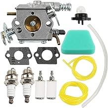 Coolwind Carburetor Air Filter Fuel Line Spark Plug Carb Fits Poulan Chainsaw 1950 2050 2150 2375 Wild Thing 2375LE Walbro WT 89 891 WT-324 Zama C1U-W8 C1U-W14 Replace# 545081885