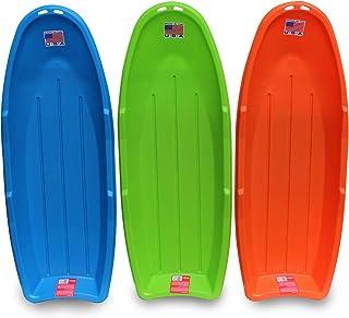 "Flexible Flyer Lightning Snow Sleds for Kids & Adults. Plastic Toboggan Sand Slider 48"" 3-Pack"