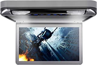 XTRONS 13.3 Inch 1080P Video Car MPV Roof Flip Down Overhead Multimedia Car Ceiling Overhead DVD Player Display Wide Scree...