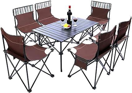 Mesa De Camping Plegable Al Aire Libre Y Sillas De Mesa ...